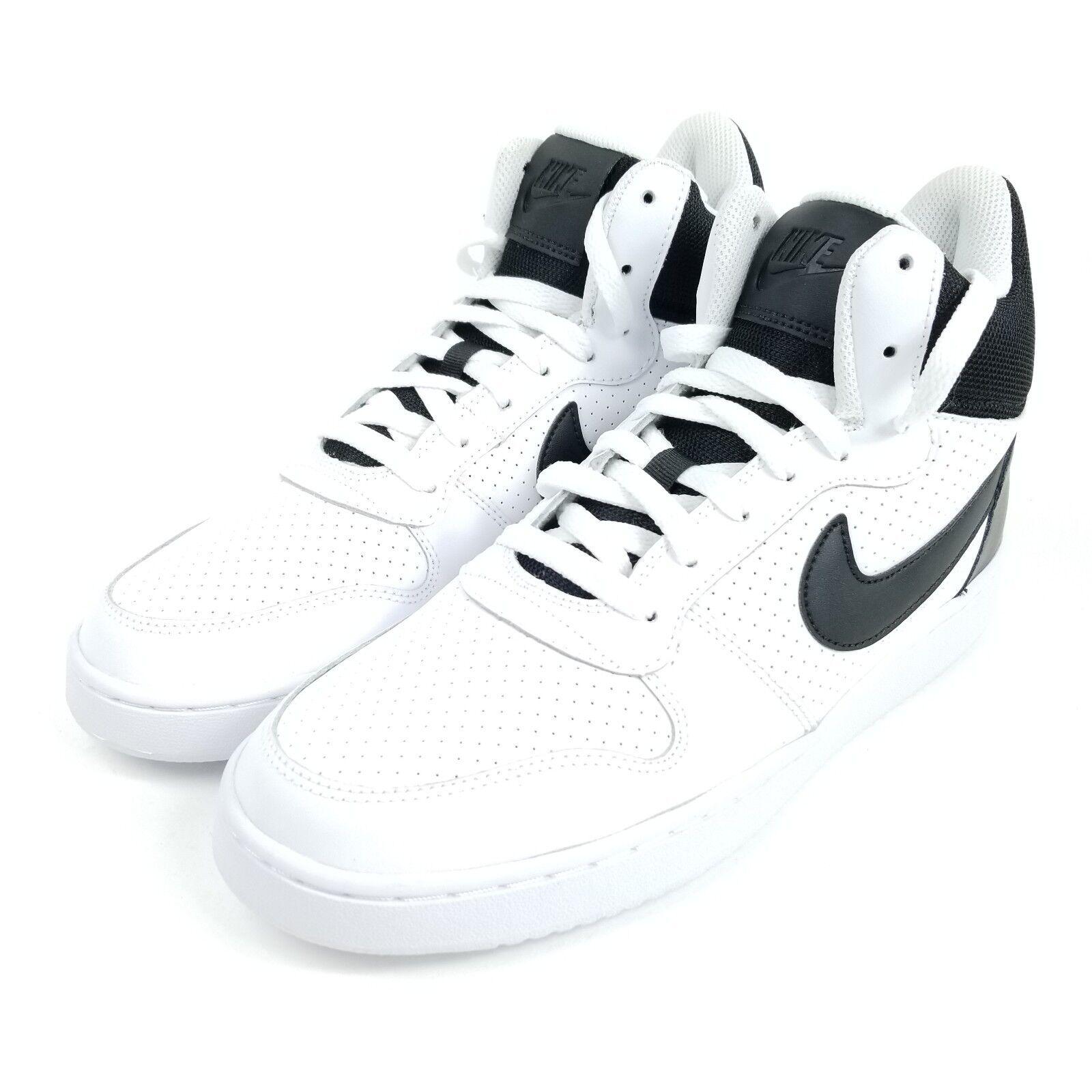 Nike corte borough metà Uomo scarpe sz 9,5 scarpe Uomo bianco nero 838938 100 b28240
