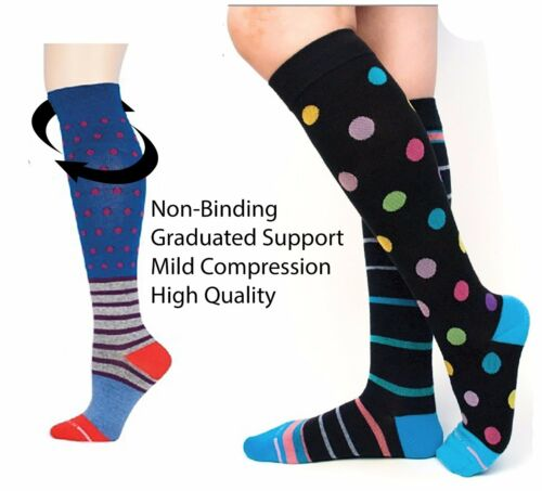 Hi Stripe Women Polka Knee Socks Circolazione Motion Plaid Hot Dr Dot Compression TwqHIRR