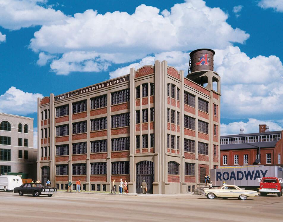 Edificio de suministro de hardware Walthers Piedra Angular americano (HO) 933-3097