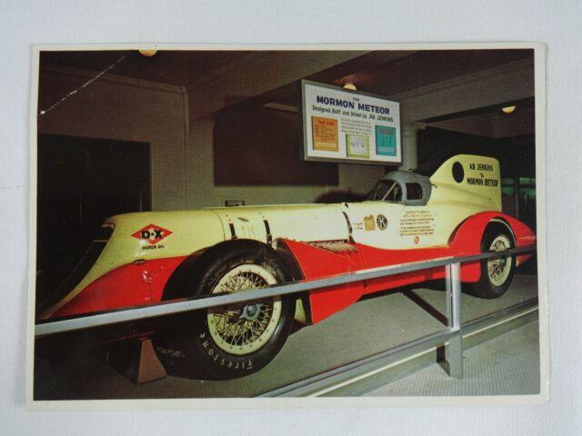 Vintage Mormon Meteor Racing Car Postcard Driver Ab Jenkins Salt Lake City Utah