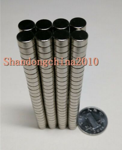 50pcs Neodymium Disc Mini 6X4mm Rare Earth N35 Strong Magnets
