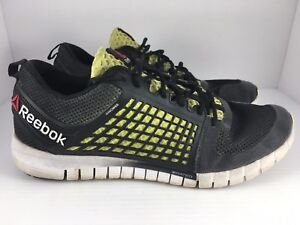 Reebok Nanoweb Z Run Men s 11.5 Black Green White Lightweight ... 80db0759c