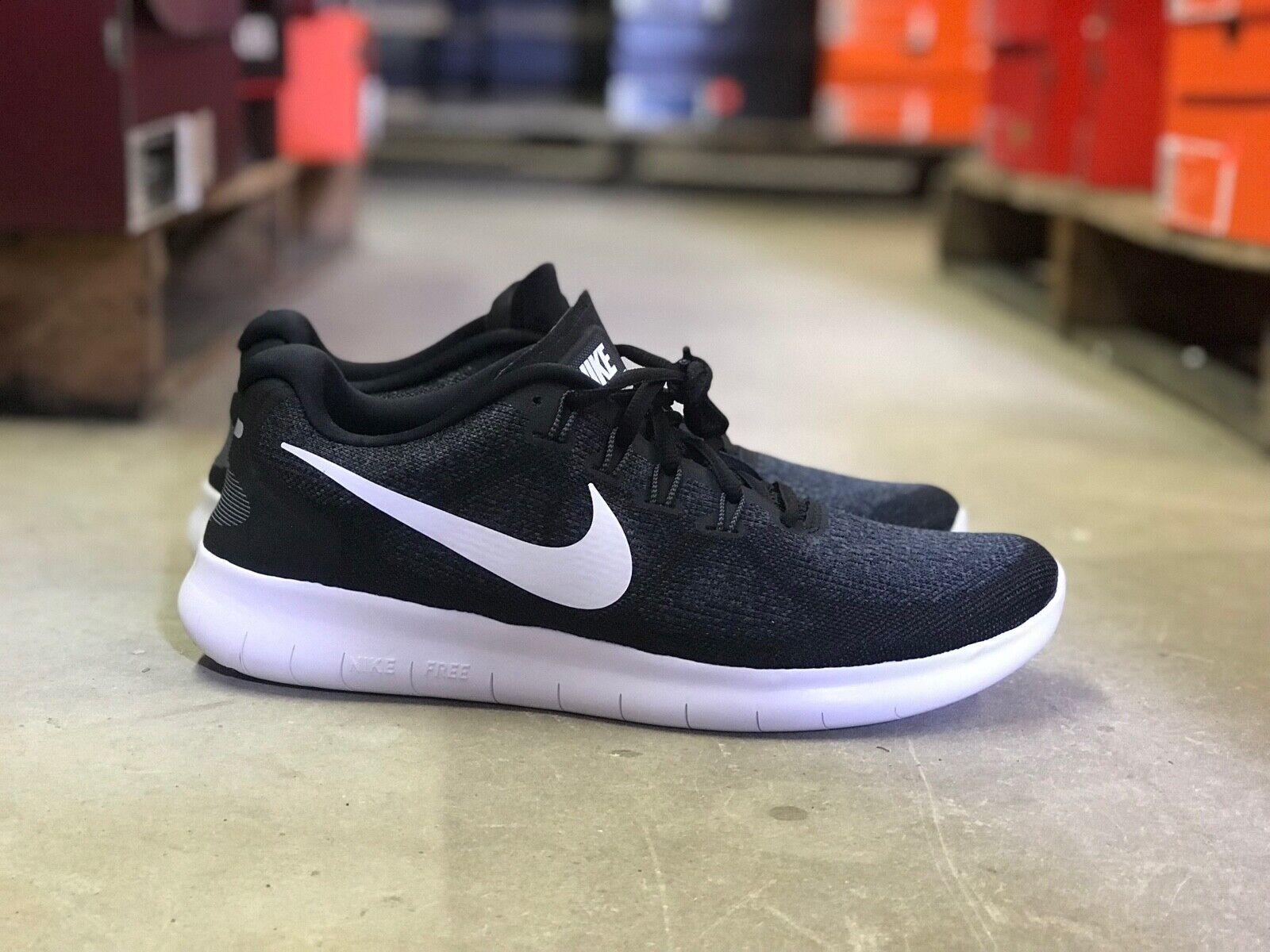 ef4593e10a215 Nike Free RN 2017 Mens Running shoes Black White 880839-001 NEW Multiple  Sizes