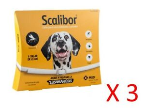 COLLAR SCALIBOR 65 Cm - pulgas, garrapatas, leishmaniosis (Pack 3)