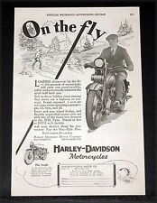 1928 OLD MAGAZINE PRINT AD, HARLEY-DAVIDSON MOTORCYCLES, LOAFING OR ON THE FLY!