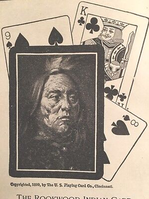 Playing Card Company Rookwood Indian 1901 Antique Ad Congress U.s Fashionable Patterns