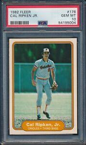1982 Fleer Baseball Cal Ripken Jr ROOKIE #176 PSA 10 ORIOLES GEM MINT HOF