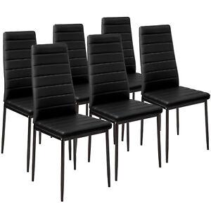 6x-Esszimmerstuhl-Set-Stuehle-Kuechenstuhl-Hochlehner-Wartezimmer-Stuhl-schwarz