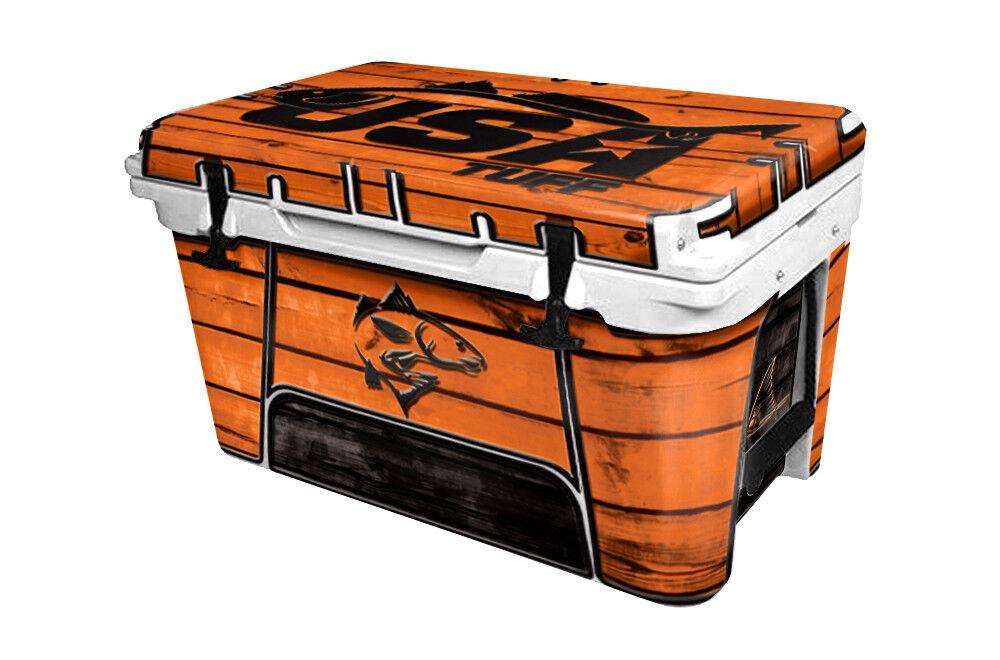 RTIC Wrap  Fits Old Mold  65qt Cooler 24mil Full Kit USATuff rotFish Wood Orange