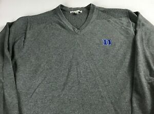 Duke-Blue-Devils-Sweater-Mens-L-XL-Student-Alumni-Long-Sleeve-Pullover-V-Neck