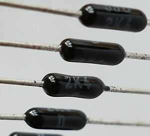 PANASONIC 100uF25V 6x5 85C Axial Electrolytic Capacitor ECEB1EU101YA Lot-10pcs