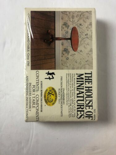 The House of Miniatures Chippendale Round Table Factory Sealed Collectors Series