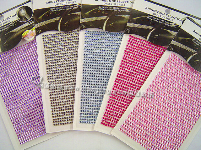 945 Sparkling Rhinestone Gem Selfadersive Stickers with crystal beads-craft,deco