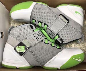 a77d4fe0e66 Details about 2008 Nike Zoom Lebron V 5 Dunkman Grey Green White 317253-002  Sz 9.5