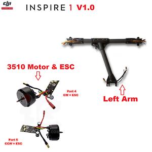 DJI Inspire 1 RC Drone de fibra de carbono conjunto brazo izquierdo con motor de 3510 CW counter-clockwise & Esc