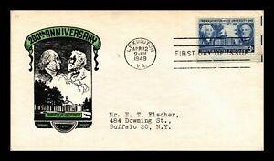 DR-JIM-STAMPS-US-WASHINGTON-LEE-UNIVERSITY-FDC-IOOR-COVER-SCOTT-982