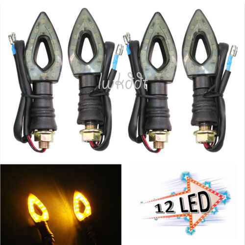 4x Motorcycle LED Turn Signal Lights For Harley Sportster Softail Dyna Touring