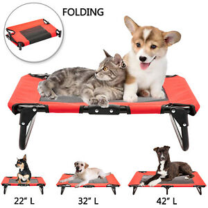 Elevated Pet Cot Dog Bed Folding Raised Sleeper Lounger Hammock Summer Pet Bed