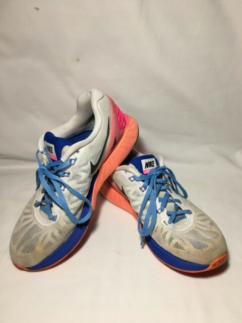 d7e000a56add NIKE Womens Lunarglide 6 Running Shoes Size 7.5 Hyper Pink Hyper Cobalt Good