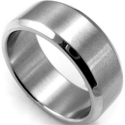 8mm Stainless Steel Ring Men/Women's Wedding Band Silver Black Gold Sz7-12