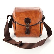 Retro PU Leather DSLR SLR Camera Waterproof Shoulder Bag For Canon Sony Nikon
