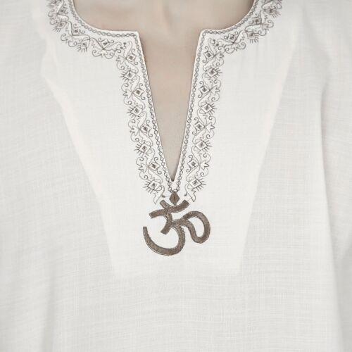 Traditional  Fashion Shirt Embroidered Mens Short Kurta Cotton India Clothing
