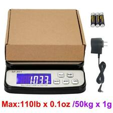 Postal Scale Digital Kitchen Shipping Electronic Weight Mail 110 Lb X 01oz