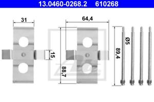 Scheibenbremsbelag für Bremsanlage Vorderachse ATE 13.0460-0268.2 Zubehörsatz