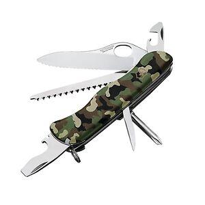 New Victorinox Swiss Army One Hand Trekker Camo 54877 Ebay
