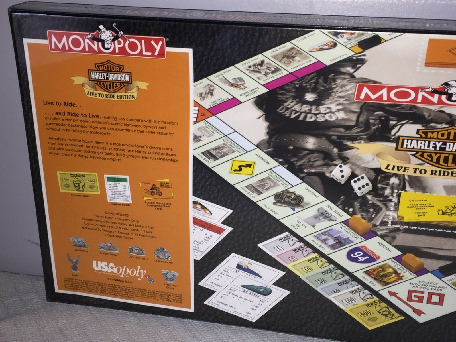 Monopoly Game Harley-Davidson Motorcycle    Live to Ride  Edition by Parker Bros. 3a53e8