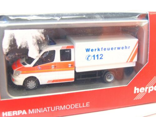 KV4464 Herpa 1//87 091954 MB Sprinter 13 DoKa Werkfeuerwehr Salzgitter AG OVP
