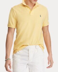 100/% Cotton RRP£80 Mens Ralph Lauren yellow Polo T-Shirt Short Sleeve