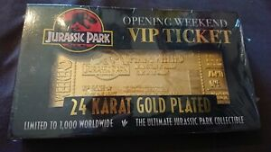 Universal-Studios-Jurassic-Park-24K-Gold-Plated-Entrance-Ticket-Limited-Edition