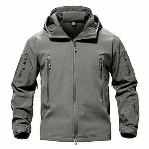 Mens LNA Tactical Softshell Long Sleeves Full Zip Hooded Breathable Jacket New