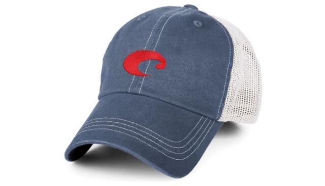 reputable site 04a88 f587c ... top quality costa del mar mesh logo adjustable cap hat slate blue stone  hot hot 38be2