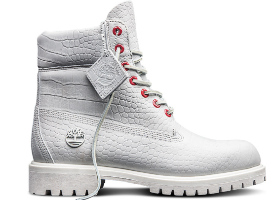 Timberland Limited Release White Serpent kid Boots (TB0A1PKX) Size 4.5