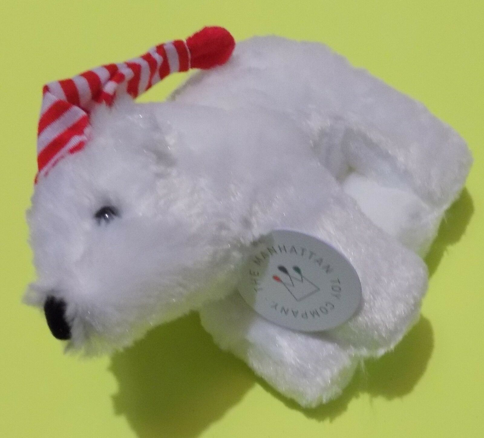 Manhattan Toy Holiday Voyagers White Polar Bear Stuffed Animal New