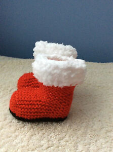 BABY-Christmas-boots-KNITTING-PATTERN-ONLY-BABY-DK-YARN-0-3-3-6-6-9-months