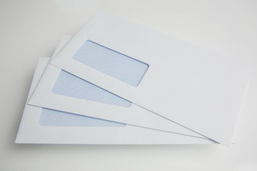 90gsm White Window Plain Business Office Envelopes self seal Quick Delivery