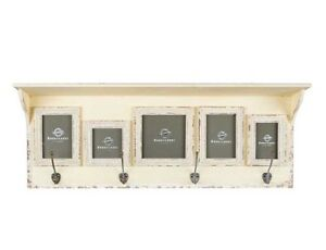 Image Is Loading Antique Style Cream Wall Shelf With 5 Frames