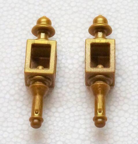 2 X Lampe Lanterne Doré Playmobil pour Diligence Entraîneur Bateau Maison 2165