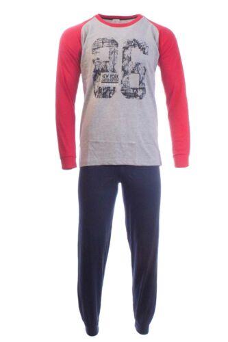 Herren Pyjama 86 Schlafanzug Nachtanzug Herrenmode Lang Langarm XL