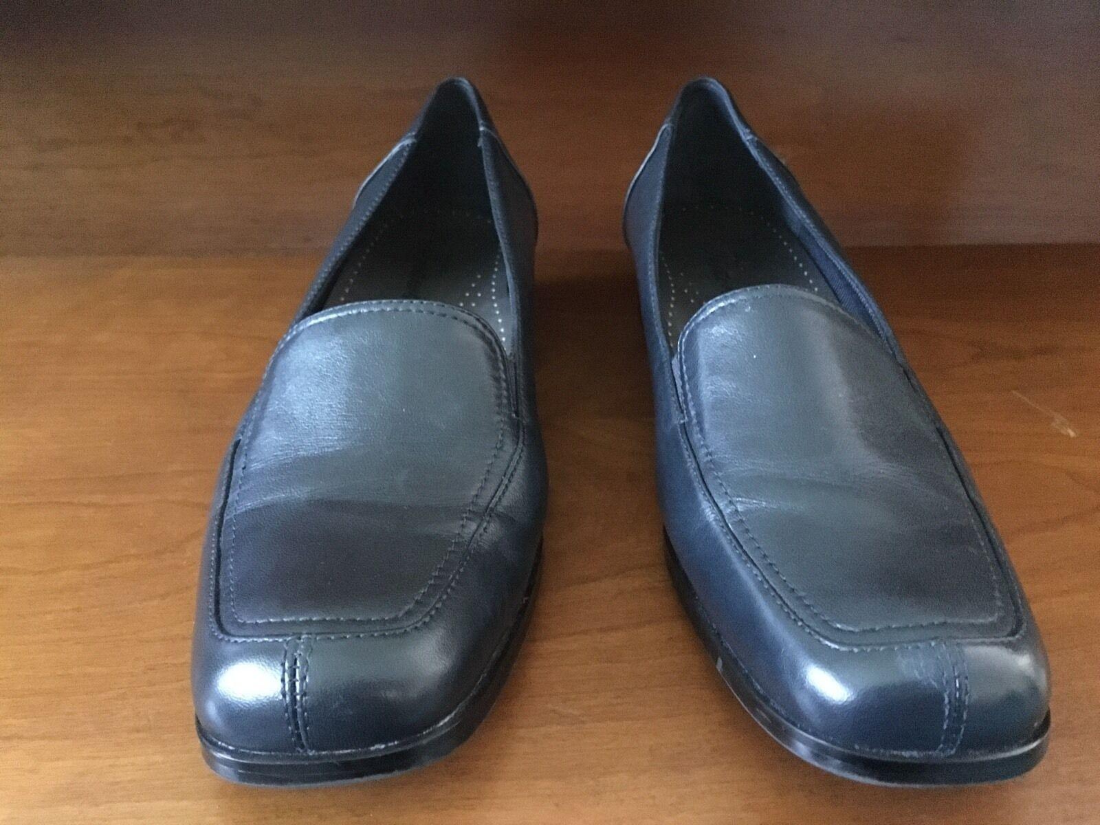 Trotters Navy Blue Women's 10 Size 10 Women's Medium, Classic Slip-on Shoe NEW dd20ee