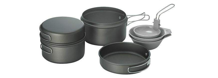 Kovea Solo 2 2 Solo Cookset Kopel Outdoors  Hard Anodize Coated 12 People for Camping d64765
