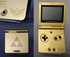 Nintendo Game Boy Advance GBA SP Custom Zelda Gold Triforce System AGS 001 MINT