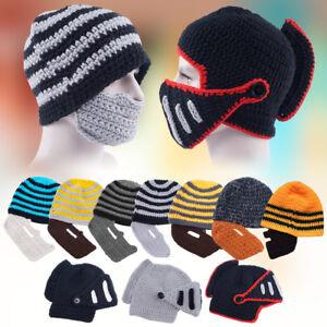 cf559755181 Warm Winter Sport Beard Beanie Mustache Face Mask Ski Snow Hat Cap ...