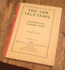 You Can Talk TAMIL 1948 Booklet ROMAN TAMIL Harriet Wilson FREE US SHIPPING RARE
