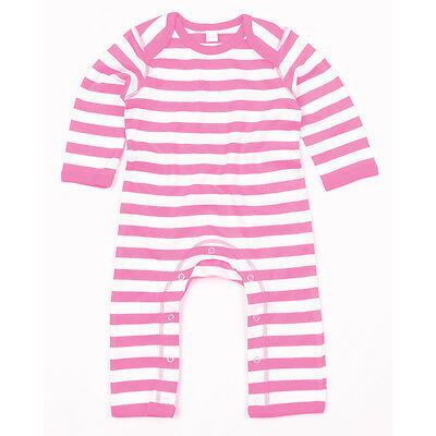 Babybugz Baby Stripy Rompasuit - Onesie long sleeve Stripped -Unisex - 3 Colours