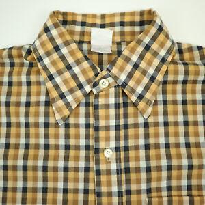 Vtg-70s-Jantzen-ss-Shirt-Mens-LARGE-USA-Made-Thin-Lightweight-Rockabilly-Greaser