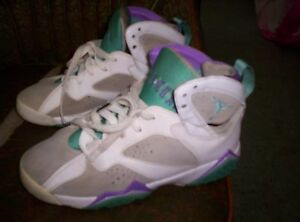 cheap for discount 34119 f0f10 Image is loading Jordan-shoes-23-white-purple-green-sz-4-